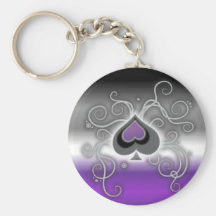 asexual pride key rings keychains zazzle uk