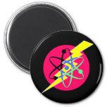 geek 6 cm round magnet