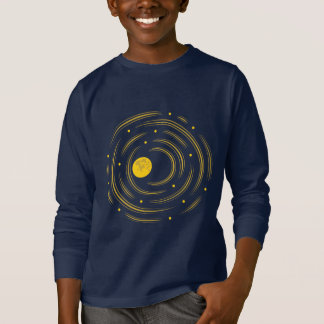 Geek Abstract Stars And Moon Kids Long Sleeve T-Shirt