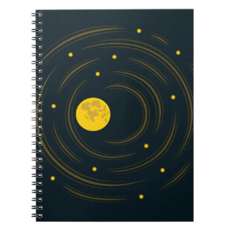 Geek Abstract Stars And Moon Notebooks