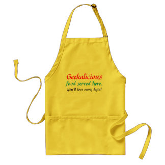 Geek Apron: Geekalicious Food Served Here. Standard Apron