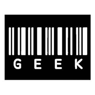 Geek Barcode Postcard