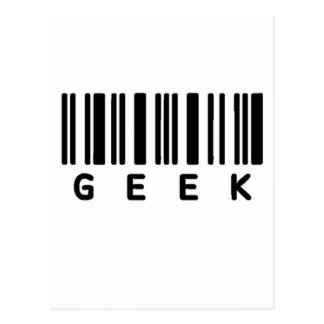 Geek Barcode Post Cards
