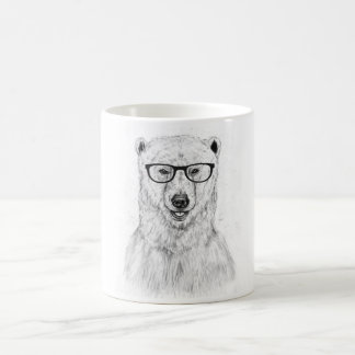 Geek bear basic white mug