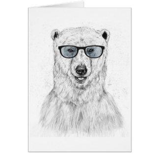 Geek bear (blue) note card
