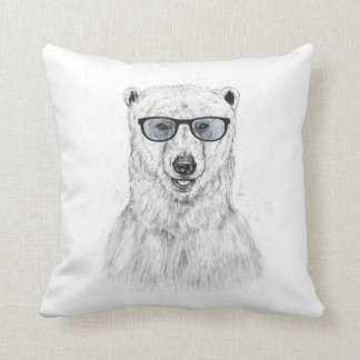 Geek bear (blue) cushion