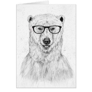 Geek bear greeting card