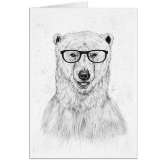 Geek bear note card