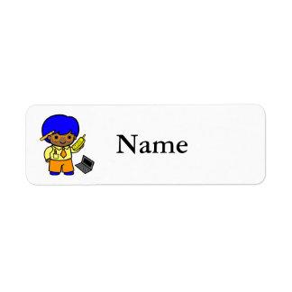 Geek Boy 1 Return Address Label