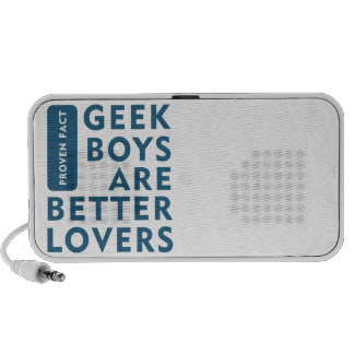 Geek boys are better lovers iPod speakers