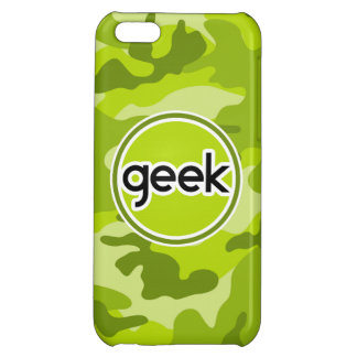 Geek bright green camo camouflage case for iPhone 5C
