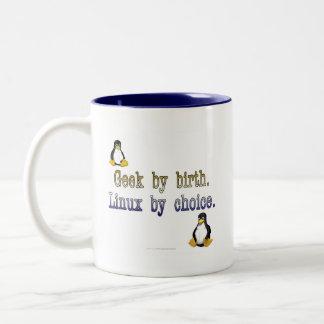 Geek by birth Linux by choice Coffee Mug