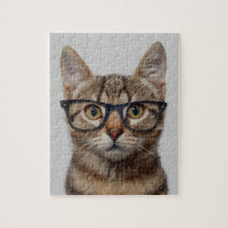 Geek Cat Jigsaw Puzzle