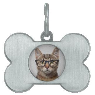 Geek Cat Pet Name Tag