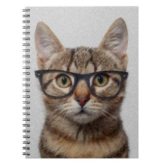 Geek Cat Spiral Notebooks