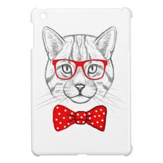 Geek Cat Unique Bowtie Design iPad Mini Cover