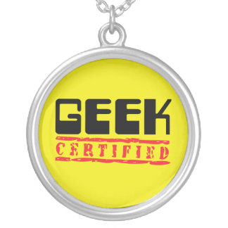 Geek Certified Round Pendant Necklace