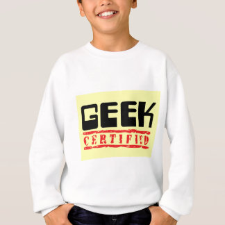 Geek certified yellow sweatshirt