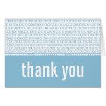Geek Chic Binary Code Thank You Card, Blue Note Card