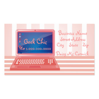 Geek Chic Computer Pack Of Standard Business Cards