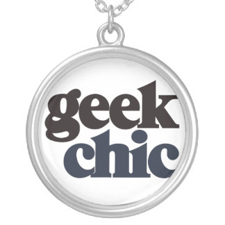 Geek Chic Round Pendant Necklace