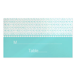 Geek Chic Wedding Place Cards Aqua Business Card