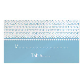 Geek Chic Wedding Place Cards, Blue Pack Of Standard Business Cards