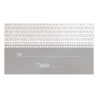 Geek Chic Wedding Place Cards, Gray Double-Sided Standard Business Cards (Pack Of 100)