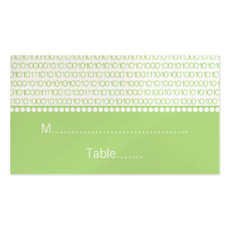 Geek Chic Wedding Place Cards Green Business Card Templates