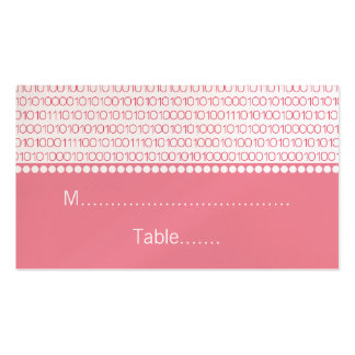 Geek Chic Wedding Place Cards, Pink Pack Of Standard Business Cards