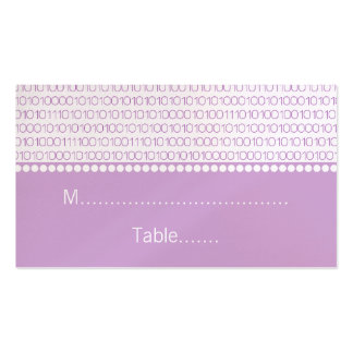 Geek Chic Wedding Place Cards, Purple Business Card