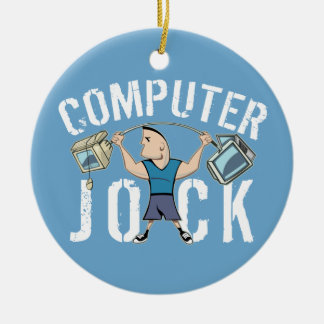 Geek Computer Jock Christmas Ornament