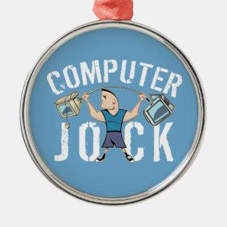 Geek Computer Jock Christmas Ornament