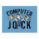 Geek Computer Jock Post Card