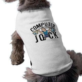Geek Computer Jock Sleeveless Dog Shirt