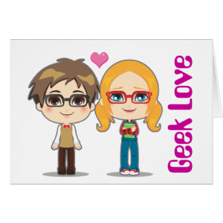Geek Couple Note Card