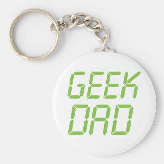 Geek Dad Basic Round Button Key Ring