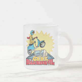 Geek Daredevil Jump 10 Oz Frosted Glass Coffee Mug
