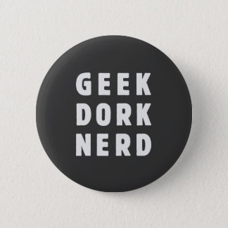 Geek, dork, nerd(and loving it) 6 cm round badge
