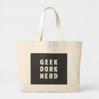 Geek, dork, nerd(and loving it) jumbo tote bag