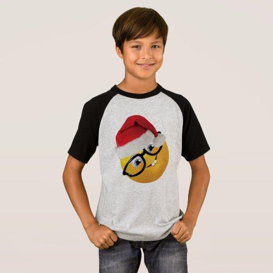geek emoji santa funny christmas t-shirt design