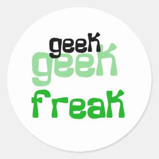 Geek Freak Classic Round Sticker