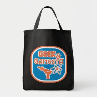 Geek & Gangsta Funny Ray Gun & Atom Symbol Canvas Bags