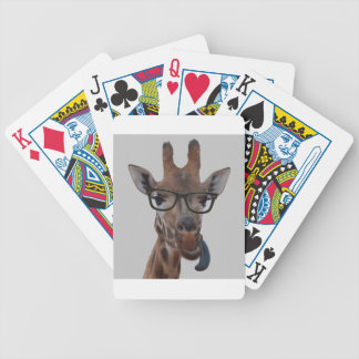 Geek Giraffe Bicycle Playing Cards