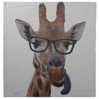 Geek Giraffe Napkin