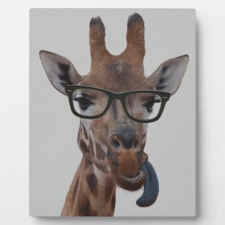 Geek Giraffe Plaque