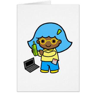 geek girl 1 note card
