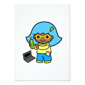 geek girl 1 13 cm x 18 cm invitation card