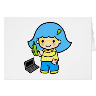 geek girl 2 greeting card