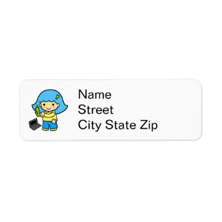 geek girl 2 return address label